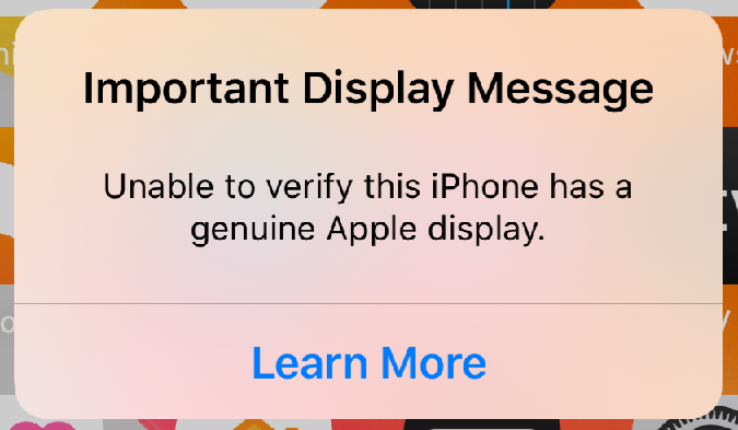 important display message unable to verify.png