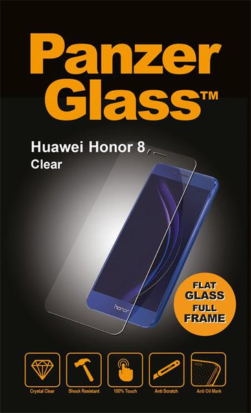 PanzerGlass - Tempered Glass for Huawei Honor 8, Clear