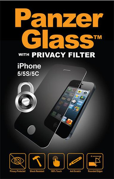 PanzerGlass - Tempered Glass for iPhone 5 / 5S / 5C / SE with Private Filter
