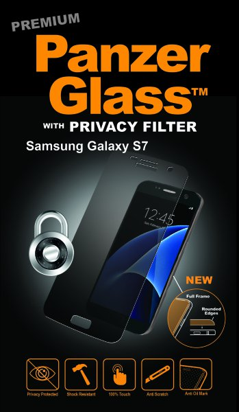 PanzerGlass - Tempered Glass for Samsung Galaxy S7 Privacy