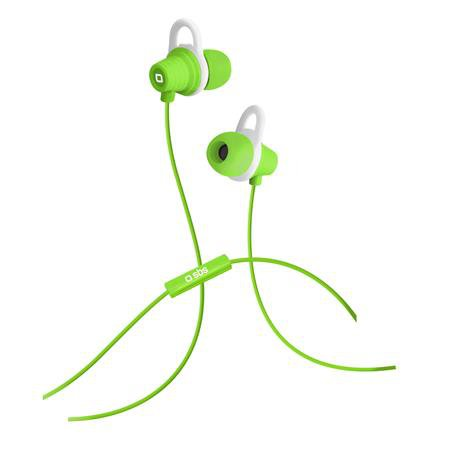 SBS - Mix 25 in-ear headphones with integrated microphone, green
