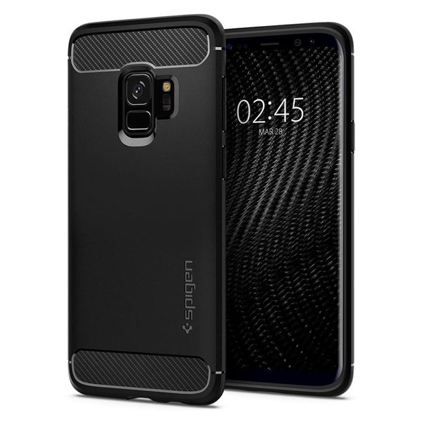 Spigen - Rugged Armor Case for Samsung Galaxy S9, Black
