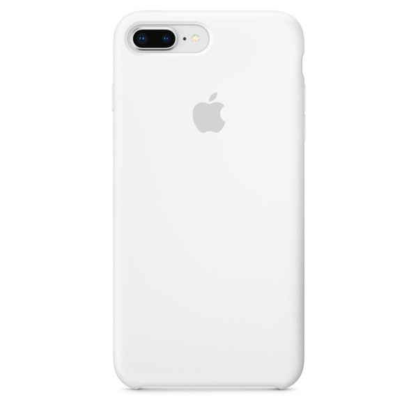 Apple - Silicone Case for iPhone 8/7 Plus, White