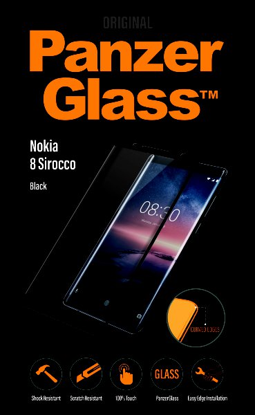 PanzerGlass - Tempered glass for Nokia 8 Sirocco, black