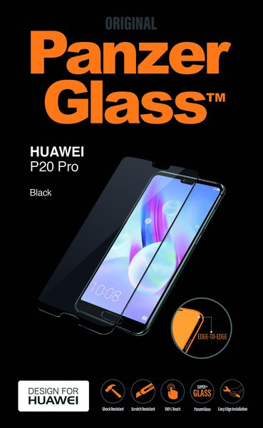 PanzerGlass - Tempered Edge-to-Edge Glass for Huawei P20 Pro, Black