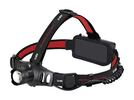 SBS - Running Pro Light, ulktra light headband with 81g battery, 3x AAA batteries, black
