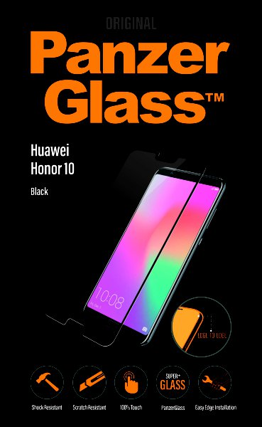 PanzerGlass - Tempered glass for Huawei Honor 10, black