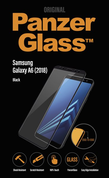PanzerGlass - Tempered Glass for Samsung Galaxy A6 Black (2018)
