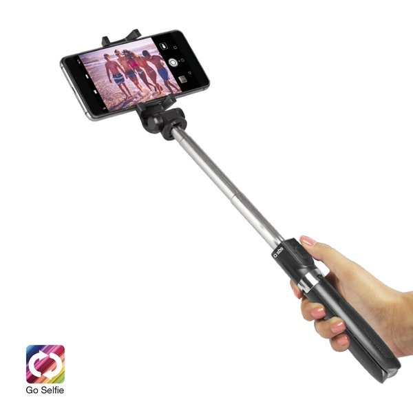SBS - Wireless selfie stick with tripod and remote control, black