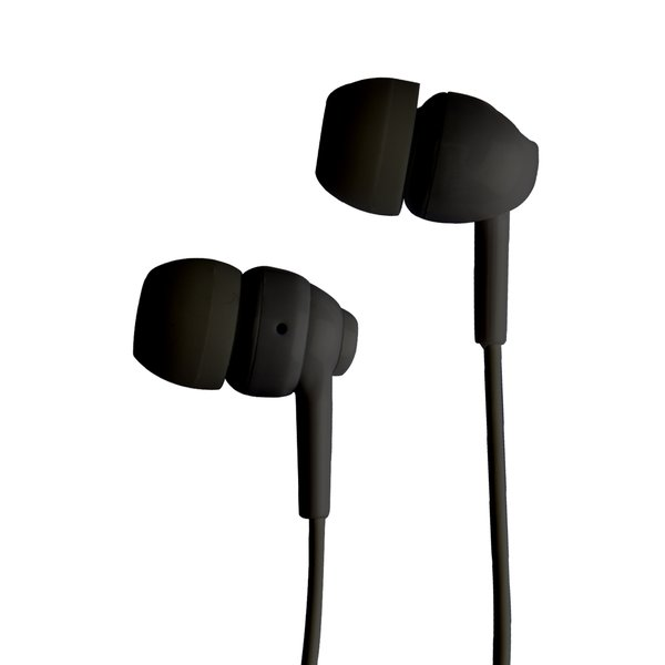 SBS - Headphones with microphone in polybag package, black