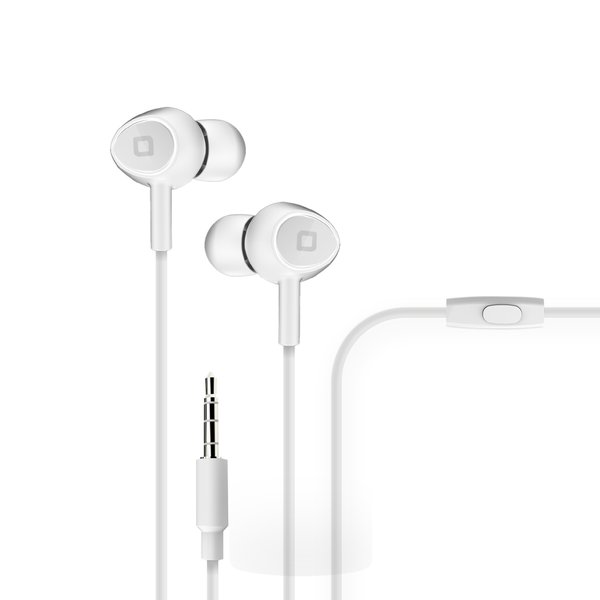 SBS - Jumper stereo earphones, white