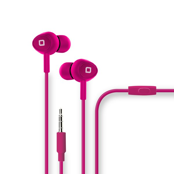 SBS - Jumper stereo earphones, pink