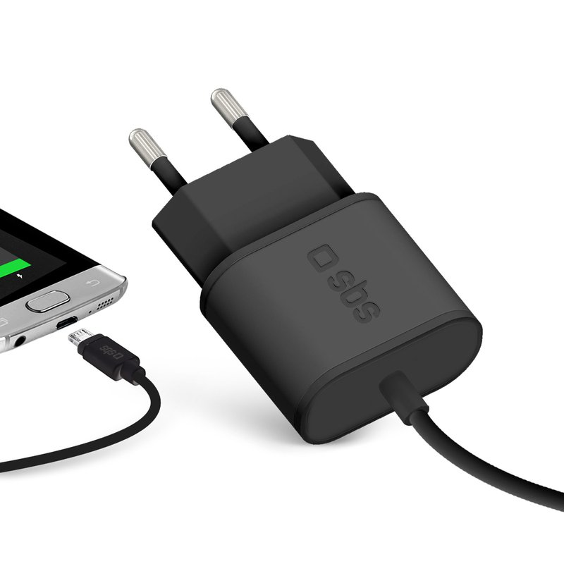 SBS - Micro-USB Travel Charger, 2100 mA, black