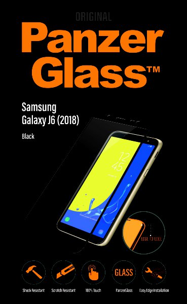 PanzerGlass - Tempered Glass Edge-To-Edge for Samsung Galaxy J6 (2018) Black