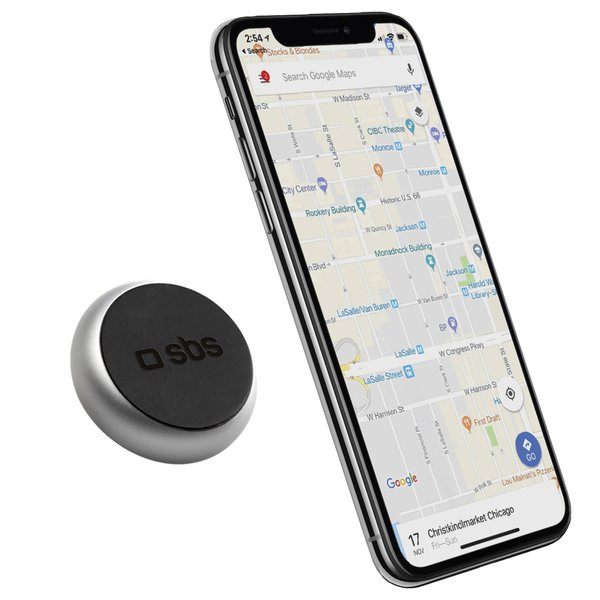 SBS - Car holder TINY ROUND, magnetic, universal for smartphones, black