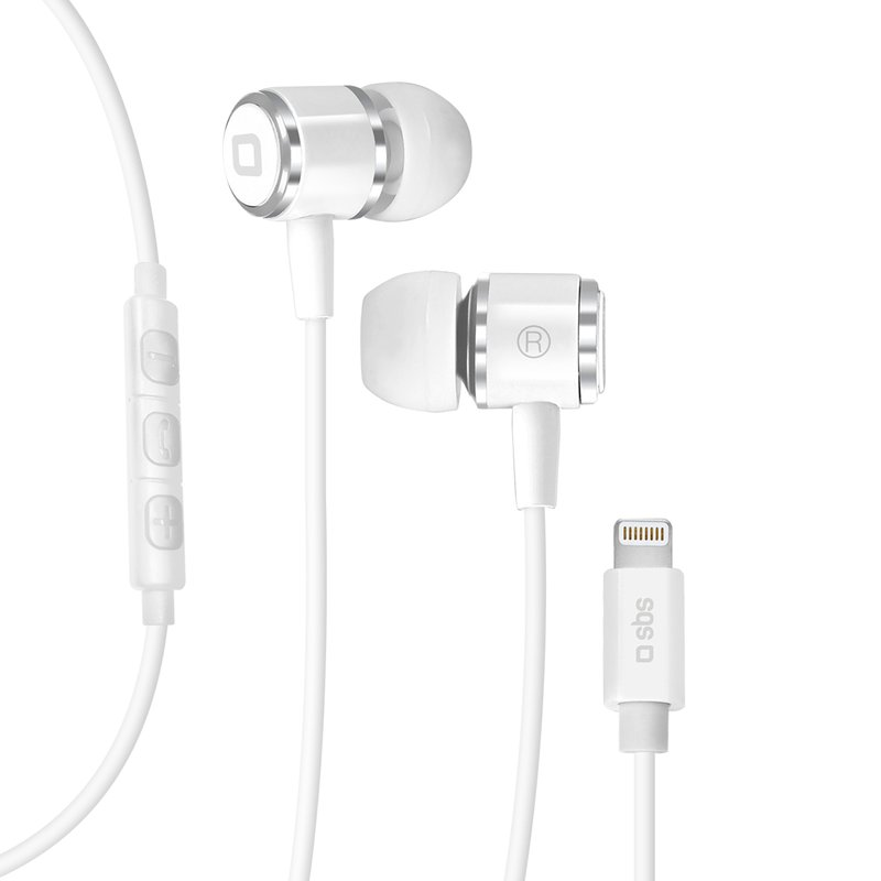 SBS - Headsets with microphone, MFI lightning, white