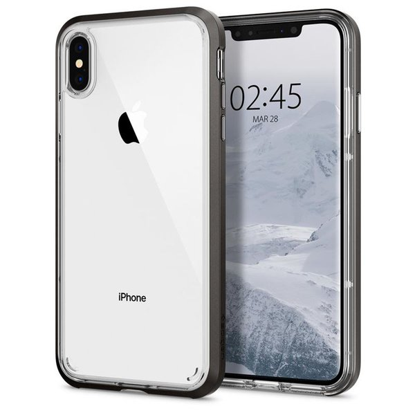 Spigen - Neo Hybrid Crystal Case for iPhone XS Max, gunmetal
