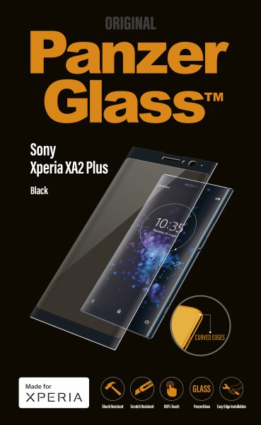 PanzerGlass - Tempered glass for Sony Xperia XA2 Plus, black