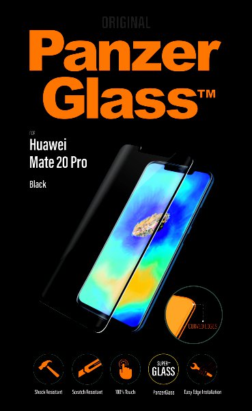 PanzerGlass - Tempered glass for Huawei Mate 20 Pro, black