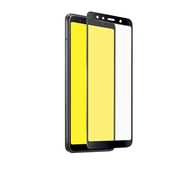 SBS - Tempered Glass Full Cover for Samsung Galaxy A7 2018, Black