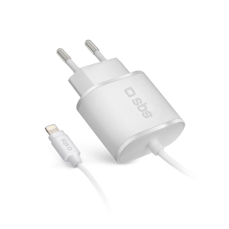 SBS - MFI Lightning Travel Charger, 1A, 100 / 250V, White