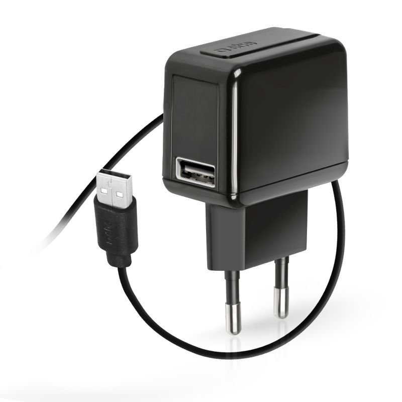 SBS - Travel charger 1xUSB, 1A, 90 / 240V, black