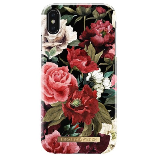 iDeal of Sweden - Fashion Case for iPhone XS Max, black with floral motif