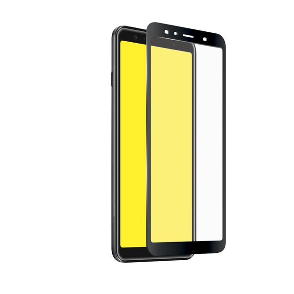 SBS - Tempered Glass Full Cover for Samsung Galaxy A9 2018, Black