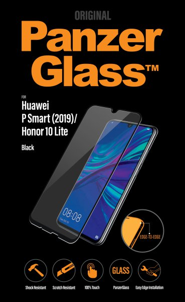 PanzerGlass - Tempered Glass for Huawei P Smart 2019/P Smart+ 2019/Honor 10 Lite/Honor 10i, Black
