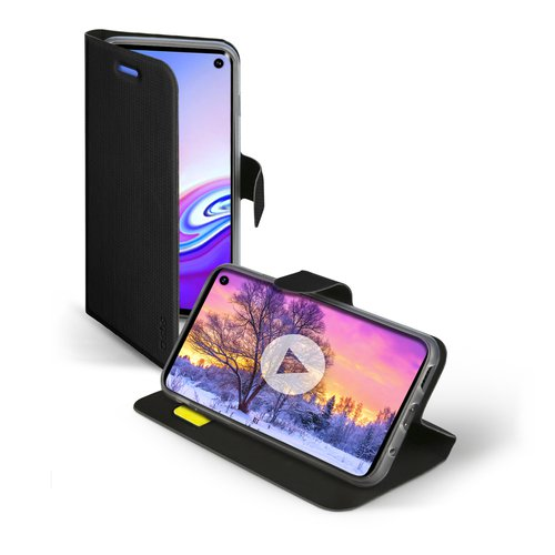 SBS - Book Sense Case for Samsung Galaxy S10e, Black