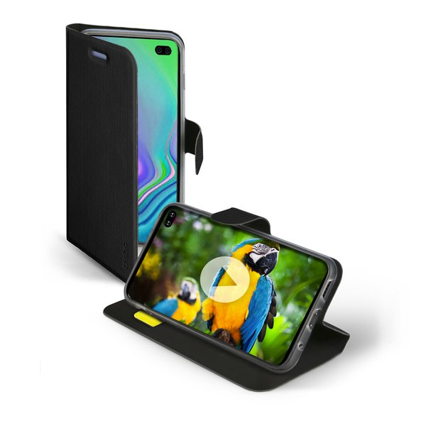 SBS - Book Sense Case for Samsung Galaxy S10 +, Black