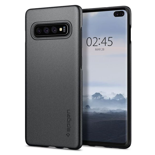Spigen - Thin Fit Case for Samsung Galaxy S10 +, gray