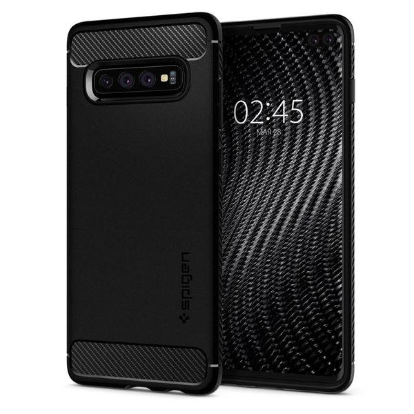 Spigen - Rugged Armor case for SamsungGalaxy S10 +, black