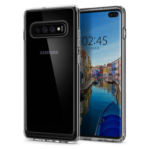Spigen - Ultra Hybrid Case for SamsungGalaxy S10 +, transparent