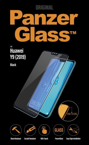 Panzerglass - Tempered glass for Huawei Y9 2019, black
