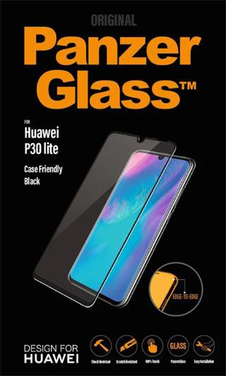 PanzerGlass - Tempered Glass Case Friendly for Huawei P30 Lite, Black