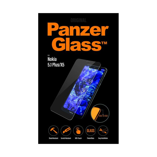 Panzerglass - Tempered glass for Nokia 5.1 Plus, Clear