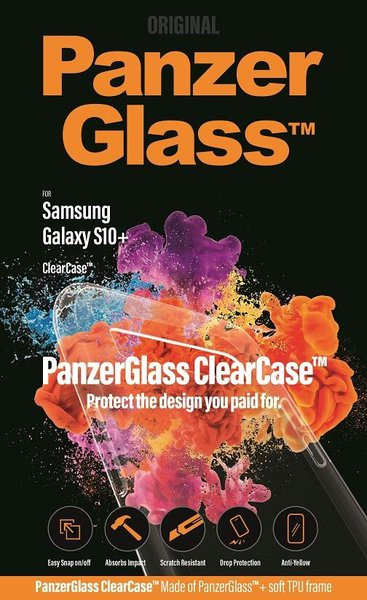 PanzerGlass - ClearCase for Samsung Galaxy S10 +, transparent