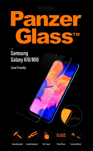 PanzerGlass - Tempered Glass Case Friendly for Samsung Galaxy A10 / M10