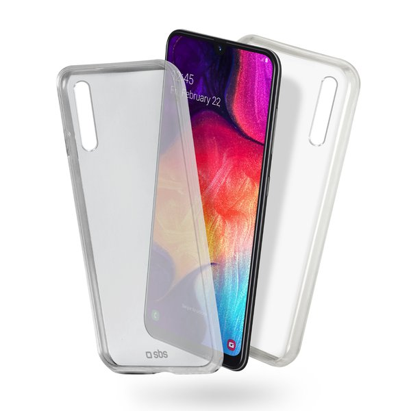 SBS - Clear Fit Case for Samsung Galaxy A50, Transparent