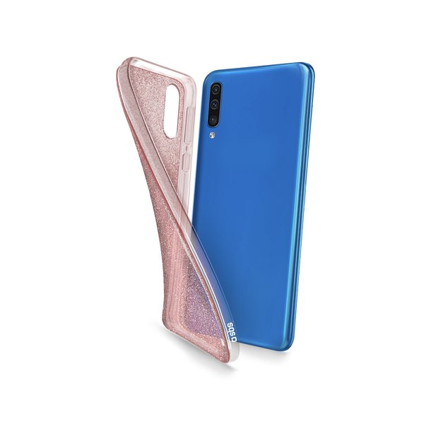 SBS - Glitter Case for Samsung Galaxy A50, Pink