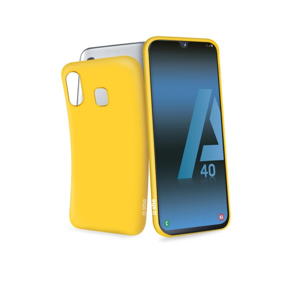 SBS - Rubber Case for Samsung Galaxy A40, yellow
