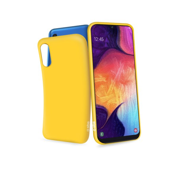SBS - Rubber Case for Samsung Galaxy A50, yellow