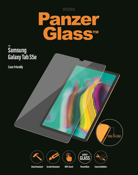 PanzerGlass - Tempered Glass Case Friendly for Samsung Galaxy Tab 5Se, Clear