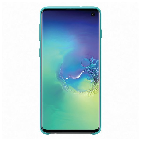 Samsung - Silicone Cover Case for Samsung Galaxy S10, Green