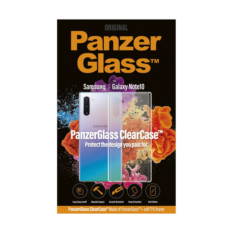 PanzerGlass - Case ClearCase for Samsung Galaxy Note 10, transparent