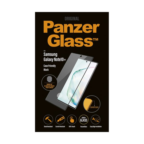 PanzerGlass - Tempered Glass Case Friendly for Samsung Galaxy Note 10+, Black