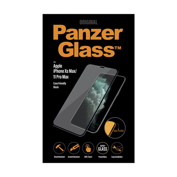 PanzerGlass - Tempered Glass Case Friendly for iPhone 11 Pro Max / Xs Max, Black