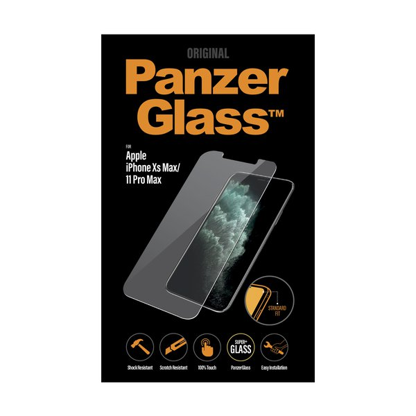 PanzerGlass - Tempered Glass for iPhone 11 Pro Max / Xs Max, Clear