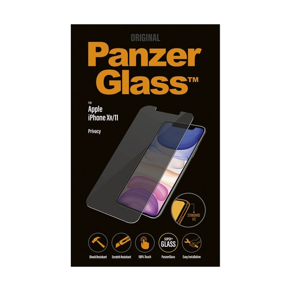 PanzerGlass - Tempered Glass Privacy for iPhone 11 / XR, Clear